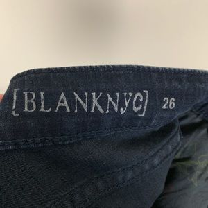 Blank NYC Jeans - [Blank NYC]- Straight Dark Jeans size 26